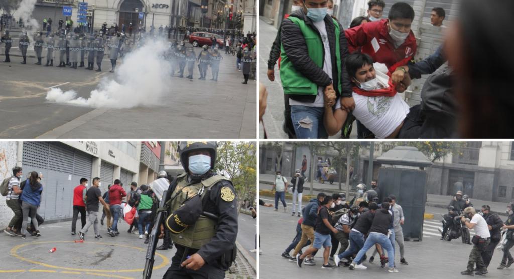 Segunda jornada de protestas ciudadanas en contra del nuevo gobierno de Manuel Merino y la vacancia de Martín Vizcarra. (Fotos: Gian Masko/IDL-Reporteros)
